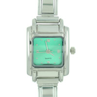 Italian Charms - square green christmas watch Image.