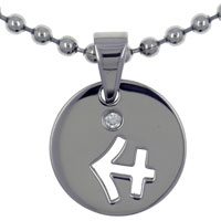 Necklace & Pendants - sagittarius round with rhinestone crystal stainless steel medallion pendant necklace zodiac pendant Image.