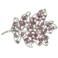 Oak Leaf Swarovski Crystal Brooches &  Pins