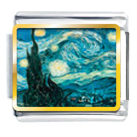 V1544: starry night italian charm Image.