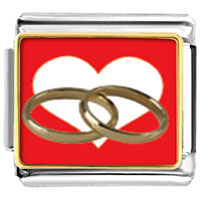 Italian Charms - wedding rings heart charm photo italian charm Image.