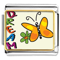 VPH1441: dream butterfly charm photo italian charm Image.