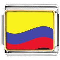 Italian Charms - colombia flag charm photo italian charm Image.