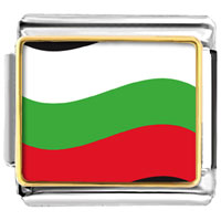 Italian Charms - bulgaria flag charm photo italian charm Image.