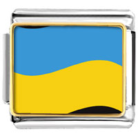 Italian Charms - ukraine flag charm photo italian charm Image.