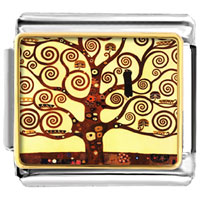 Italian Charms - the tree of life painting charm Image.