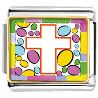 Items from KS - easter cross white charm photo italian charm Image.