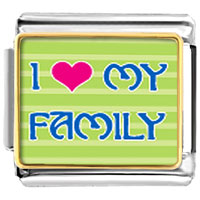 Italian Charms - i heart my family photo charm photo italian charm Image.