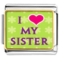 Italian Charms - i heart my sister photo photo italian charm Image.
