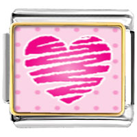 Italian Charms - heart scribble charm photo italian charm Image.