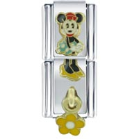 Italian Charms - gold minnie dangle licensed italian charm Image.