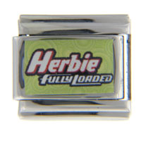 Italian Charms - herbie fully loaded sign licensed italian charm Image.