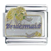 Italian Charms - wedding bridesmaid x2 italian charm Image.