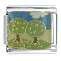 Italian Charms - trees of summer x2  italian charm Image.