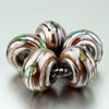5 Glitter Pale Green Leaf Murano Glass All Brands Beads  Charms   ... 