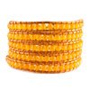 Pugster Yellow Turquoise Beads Style Chan Luu Wrap Bracelets On Leather