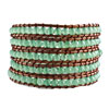 Classic Pale Green Agate Beads Chan Luu Wrap Bracelet On Brown Cotton Bead...