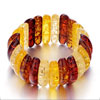 Alternate Yellow And Brown And Red Murano Glass Bracelet Bead Bracelets