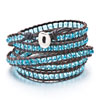 Sapphire Chan Luu Wrap Bracelet On Brown Leather Bead Bracelets