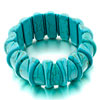 Classic Turquoise Beads Shape Wide Bracelets
