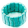 Classic Wave Shape Turquoise Beads Wide Bracelets