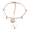 Flower Shaped With Gold Chained April Birthstone Hotwife Anklets Bracelet