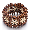 Brown Resin With White Flower Bracelet