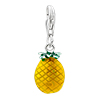 925 Sterling Silver Pineapple Lobster Clasp Charm For Bracelet