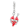 925 Sterling Silver Red Bikin Lobster Clasp Charm For Bracelet