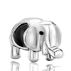 Elephant Silver Plated Beads Charms Bracelets