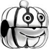 Silver Cartoon Pumpkin Guy Clip Lock Stopper Beads Charms Bracelets