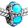 Pugster December Blue Zircon Color Birthstone European Charm Bead Bracelets