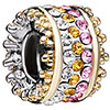 Multi Color Crystal Spacer Wheel All Brand Two Tone Plated Beads Charms Bracelets