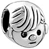 Curious  Boy Silver  Plated Beads Charms Bracelets