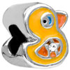 Funny Duck Silver Plated Beads Charms Bracelets