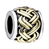 Golden Celtic Weave Two Tone Plated Beads Charms Bracelets