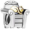 Cat In Chair Fit All Brands Two Tone Plated Beads Charms Bracelets
