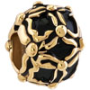 22K Black Cover Golden Stripes All Brand Gold Plated Beads Charms Bracelets