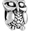 Owl Silver Plated Beads Charms Bracelets