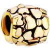 22K Carved Four Leaf Clover Wheel Spacer Gold Plated Beads Charms Bracelets