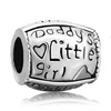 Daddy S Little Girl Heart Fit All Brands Silver Plated Beads Charms Bracelets