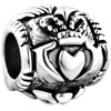 Irish Claddagh Friendship And Love Bead Fit All Brands Silver Plated Beads Charms Bracelets