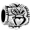 925  Sterling Silver Claddagh Celtic Love Beads Charms Bracelets Fit All B...