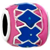 Rose Pink Sapphire Blue Interphase Irregular Beads Charms Bracelets