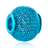 Aquamarine Blue Wheel Spacer All Brand Beads Charms Bracelets