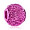 Rose Pink Wheel Spacer All Brand Beads Charms Bracelets