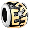 "Golden ""E"" Letter Classic Two Tone Plated Beads Charms Bracelets"