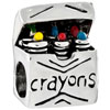 Box With Colorful Crayons Beads Charms Bracelets