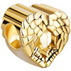 22 K Golden Heart Angel Wing Love Fit All Brands Gold Plated Beads Charms Bracelets
