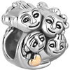 Whole Family Four Persons In Love Two Silver Plated Beads Charms Bracelets